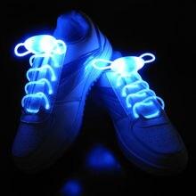 2Pcs LED Shoelaces Flash Light Up Glow Stick Strap Shoe Laces Disco Party Hot