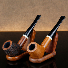 Multi Choice Straight Briar Pipe 9mm Filter Smoking Tobacco White Ring Engraved Wood Pipes Gift Set