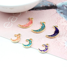 6pcs japanese and korean girl cute earrings fashion moon drop for women alloy oil handmade jewelry accessories