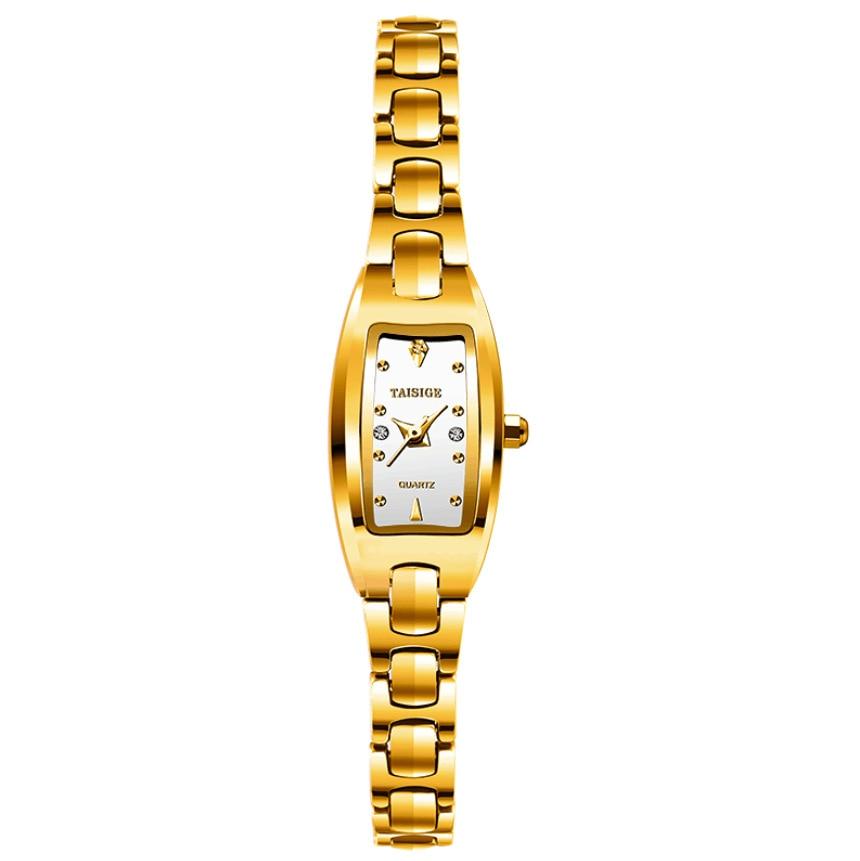 luxury gold square ladies watch quartz taisige brand women wristwatches Tungsten steel waterproof fashion woman clocksluxury gold square ladies watch quartz taisige brand women wristwatches Tungsten steel waterproof fashion woman clocks