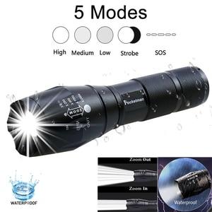 Image 3 - Lanterna tática de led q5 4000lm + 6000lm, t6, com zoom, luz ultra brilhante, lanterna, led