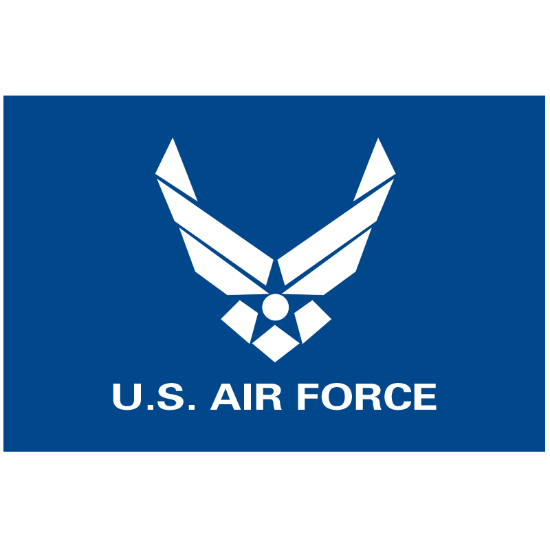 Trasporto libero 90x150 cm USAF Stati Uniti Air Force Blue Wings Logo Bandiera 3ft x 5ft Poliestere Banner bandiera personalizzata