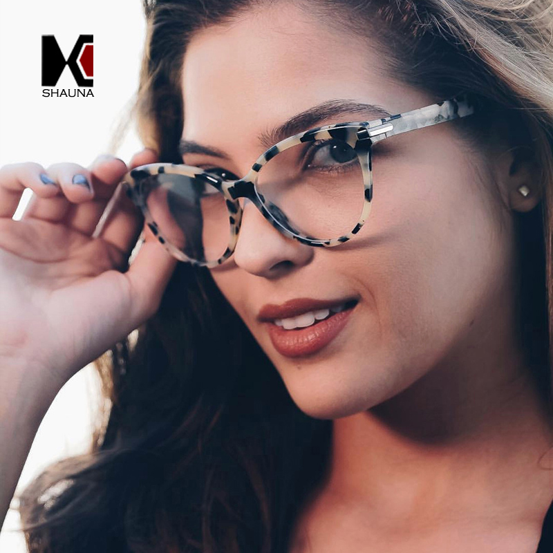 SHAUNA Classic Cat Eye Eyeglasses Frame Women Myopia Glasses