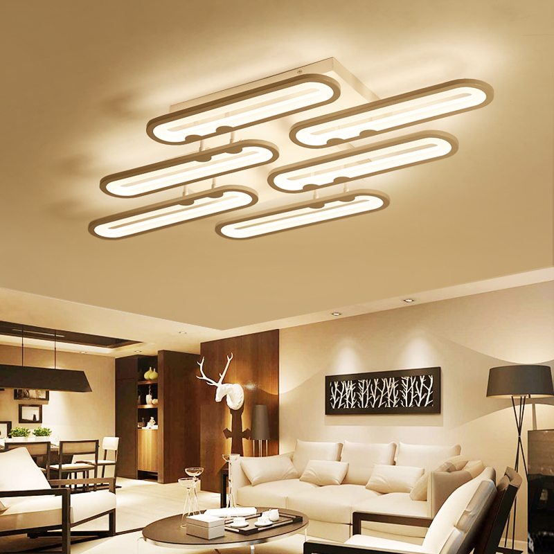 Modern Ceiling Lights Led Acrylic Ceiling Lamp lamparas de techo AC85-265V Indoor Fixtures For Living Study Room Bedroom 120cm 100cm modern ceiling lights led lights for home lighting lustre lamparas de techo plafon lamp ac85 260v lampadari luz