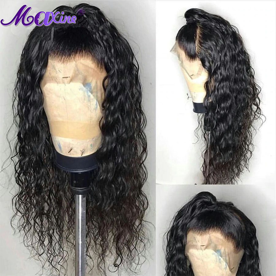 360 Lace Frontal Wig Pre Plucked With Baby Hair Water Wave Wig Peruvian Hair Wigs For