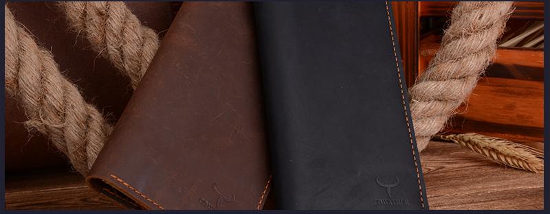 Must või pruun nahast rahakott meestele