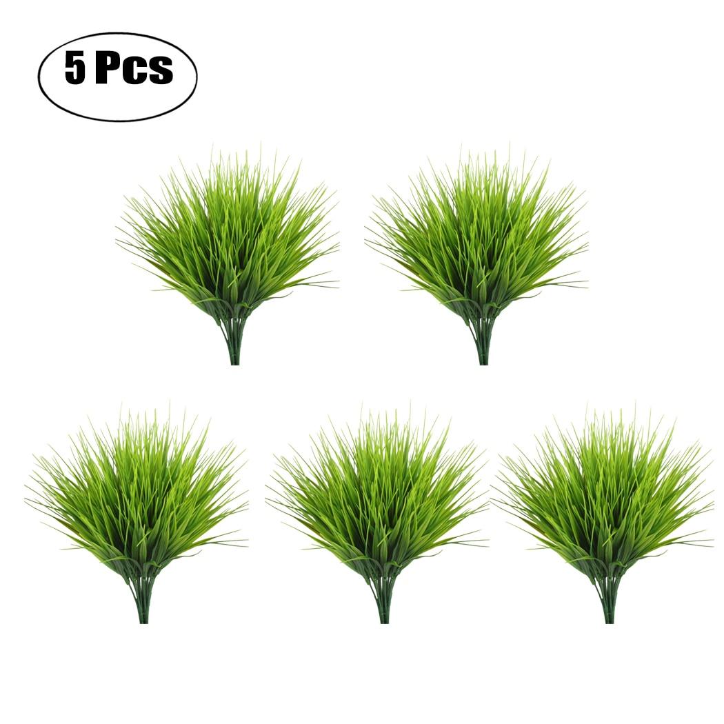 5PCS/Set Artificial Grass Plant Decorative Bendable Fake Plant Fake Grass Plant For Home Office Decor New