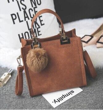 Femmes sacs petit sac à main de femme de mode de tout-allumette cheveux ampoule messenger sac simple style