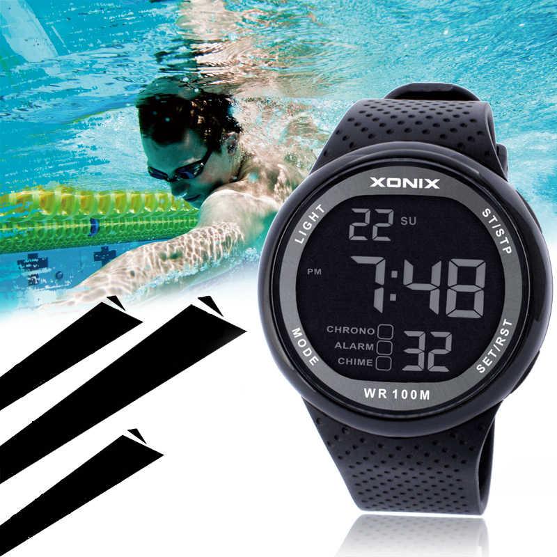 Hot!!! แฟชั่นผู้ชายกีฬานาฬิกากันน้ำ 100M Outdoor Funนาฬิกาดิจิตอลว่ายน้ำนาฬิกาข้อมือReloj Hombre Montre Homme