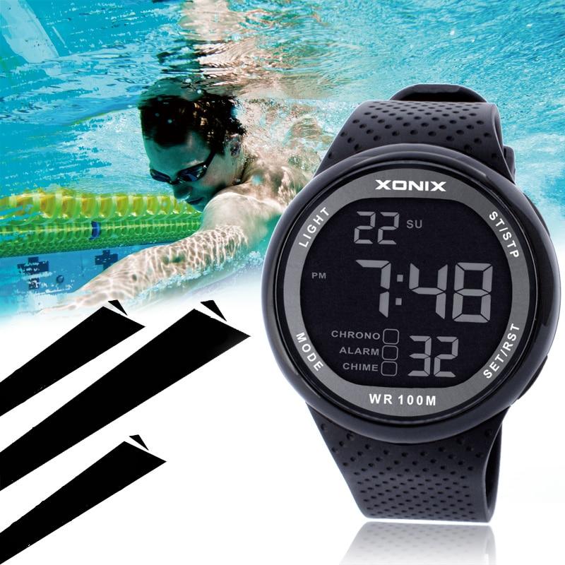 Mode Männer Sport Uhren Wasserdichte 100 M Outdoor Spaß Digitale Uhr Schwimmen Tauchen Armbanduhr Reloj Hombre Montre Homme Herrenuhren Uhren
