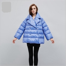 Women Winter Coat 2017 New Fashion High-quality White Duck Down Jacket Large size Casual Warm Coat Short Slim Down Coat AB258