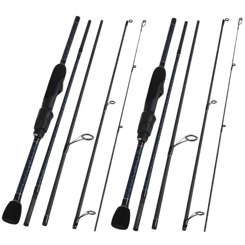 1.8m Blue Crack Pattern Paint Carbon Fiber Fishing Rod Sea Fishing Pole Fishing Tackle Sea Rod Fishing Pole