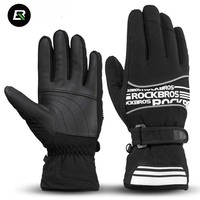 Rockbros Winter Cycling Gloves 2 Style Thermal Fleece Windproof Warmer MTB Road Bike Bicycle Gloves Sport