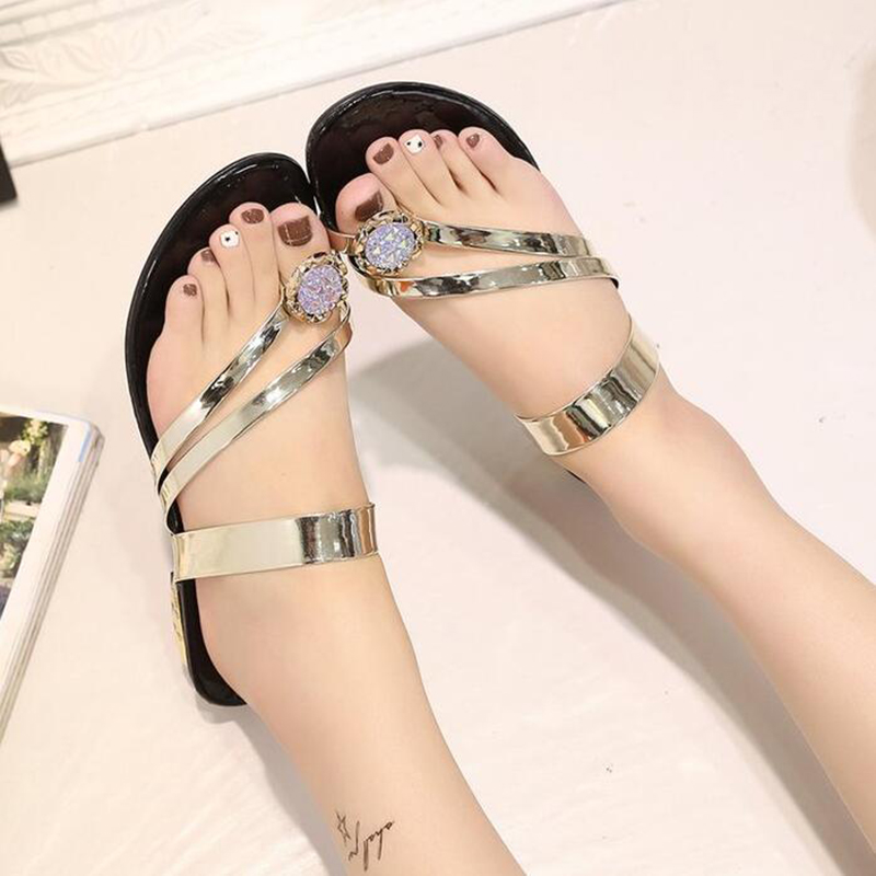 b13b9a4a336b14 Wedges sandals women s summer fashion beach shoes 2018 new ladies footwear  beautiful crystal -in Low Heels from Shoes on Aliexpress.com