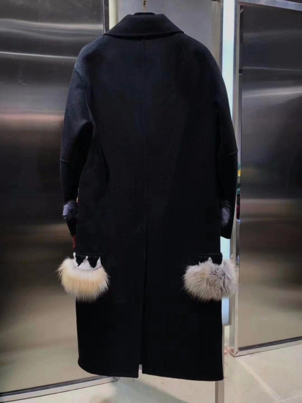 De Garder Street Casaco Femmes Mode Manteau Laine Vadim Épissage Ourlet D'hiver Femme High Au Femelle Chaud Sq8nWw651
