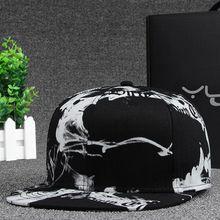Print Hip Hop Snapback Baseball Cap for Men Women ICON Cotton Dad Hat Casual Rapper Caps Women Black Hat for Girls