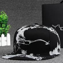 Print Hip Hop Snapback Baseball Cap for Men Women ICON Cotton Dad Hat Casual Rapper Caps Women Black Hat for Girls(China)