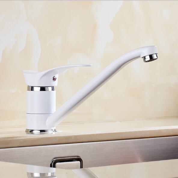 Free Shipping kitchen faucet white 360 degree swivel kitchen sink Faucet Mixer kitchen vanity faucet luxury