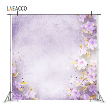 Laeacco Flowers Retro Look Good Selling Wall Photo Backgrounds Customized Photography Backdrops For Studio