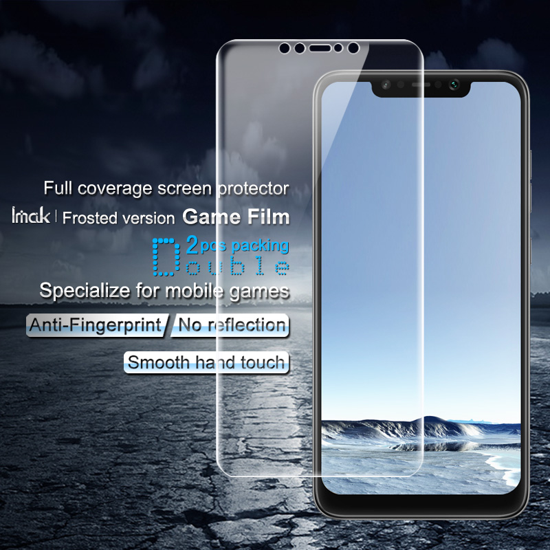 2PCS Full coverage for Xiaomi <font><b>Pocophone</b></font> <font><b>F1</b></font> Screen protector Imak Hydrogel Frosted Game Film Matte for Mobile Phone Games <font><b>Sticker</b></font> image