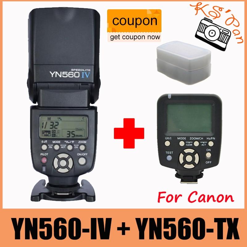 Беспроводной контроллер вспышки Yongnuo YN560 TX + вспышка YN560IV Speedlight Speedlite для камер Canon DSLR 5D 60D 5D2 6D 7D 400D
