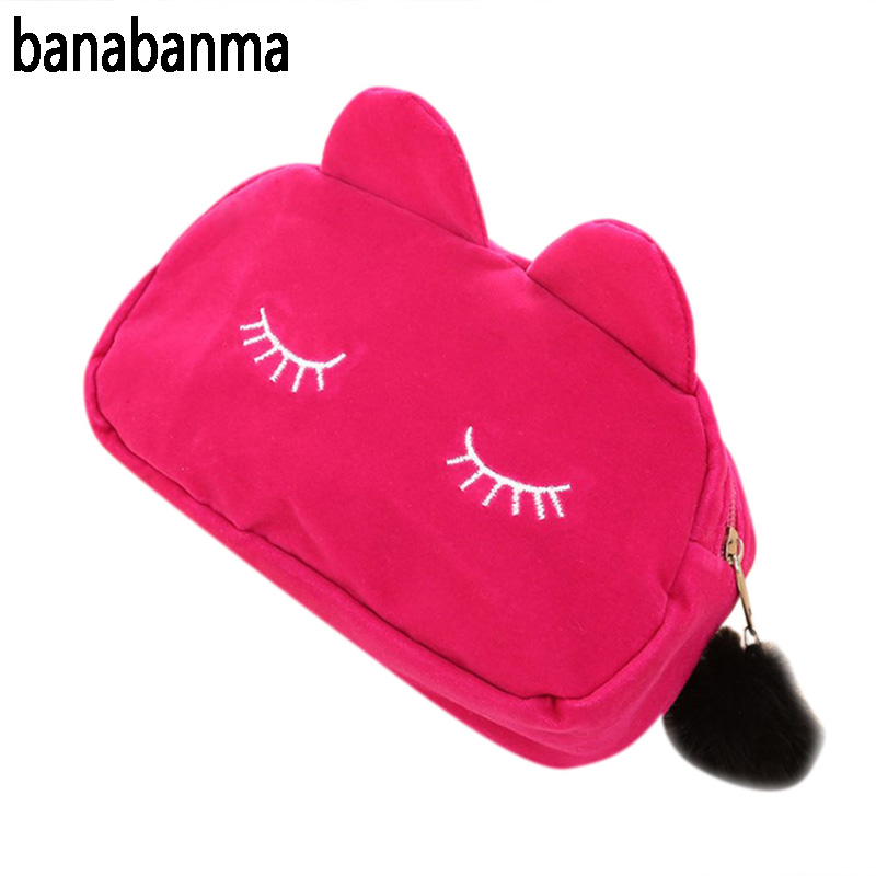 Banabanma 2017 חם נייד חמוד חתול יפה תיק אישה - ארנקים