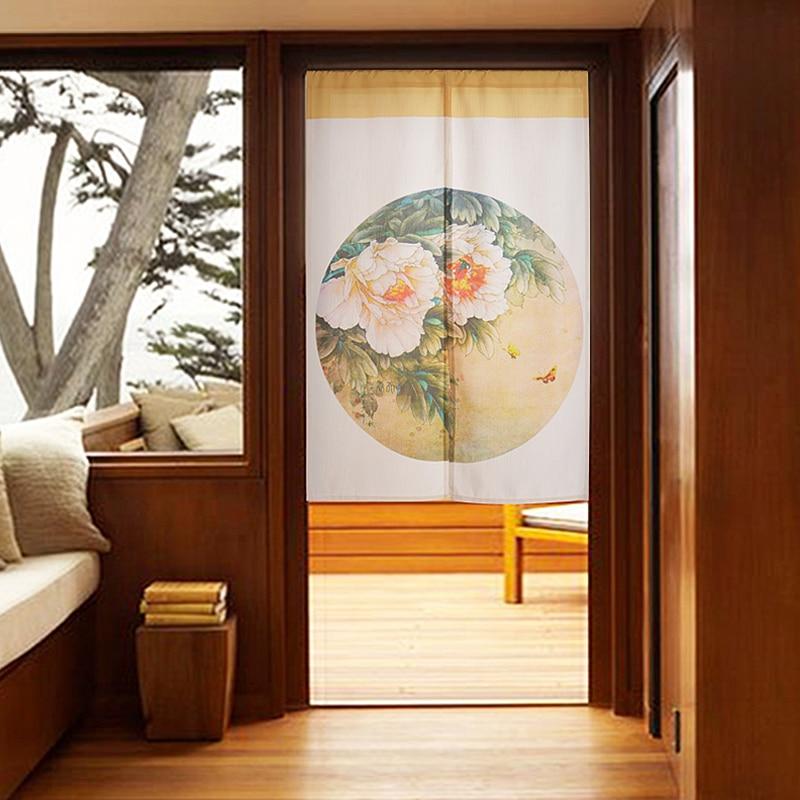 Хороший Китайский классический стиль занавес для двери черный домашний перегородка занавес для двери птицы/Цветы полиэстер занавес для дв