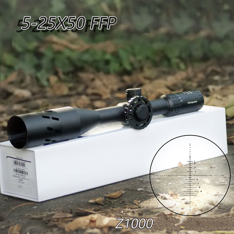 Carl Zeiss Conquest Z1000 5-25X50 FFP Hunting Scopes First Focal Plane Reticle Tactical Riflescope With Red/Green Illuminated carl zeiss 10x25 t conquest compact бинокль