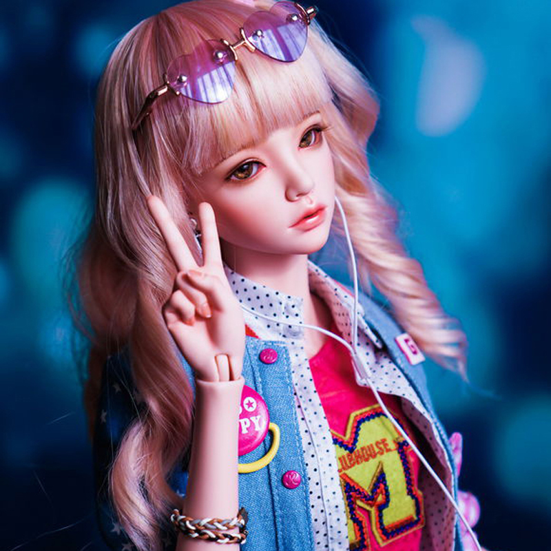 New Style 1/4 BJD Doll BJD    Mari Doll With Eyes For Baby Girl Birthday Christmas New Year Gift