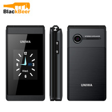 UNIWA X28 Flip GSM CellPhone 1.77,2.8 inch Dual Display Dual SIM Senior Phone Wireless Bluetooth FM Mobile Phone for Elderly