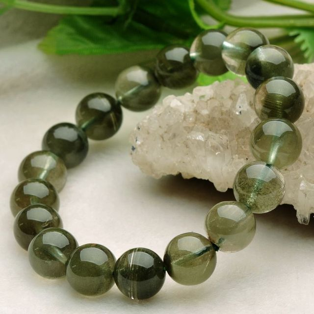 Men S Visions Crystal Bracelets 100 Natural Mineral Stone Pure Transpa Chain Male Fashion