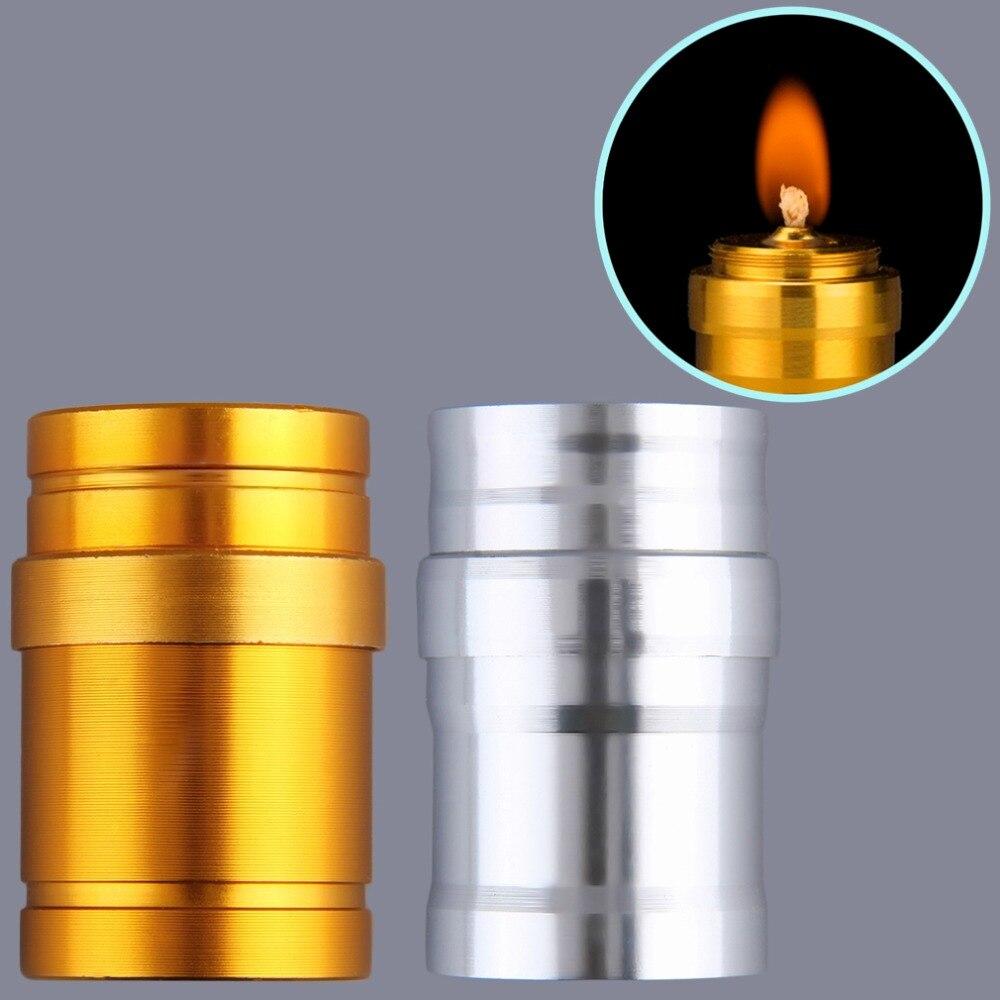 1Pc Portable Mini 10ml Alcohol Burner Lamp Aluminum Case Lab Equipment Heating For Emergency Holiday Lighting Wedding Decoration