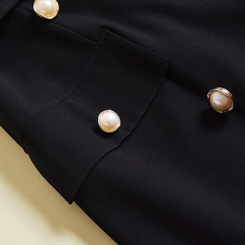Split Robe Piste Maxi Noir Sexy Col Double Longues Designer Femmes Réservoir Femme Robes Carré Qualité Haute blanc Breasted Ceinture D'été 2018 4qXPPU