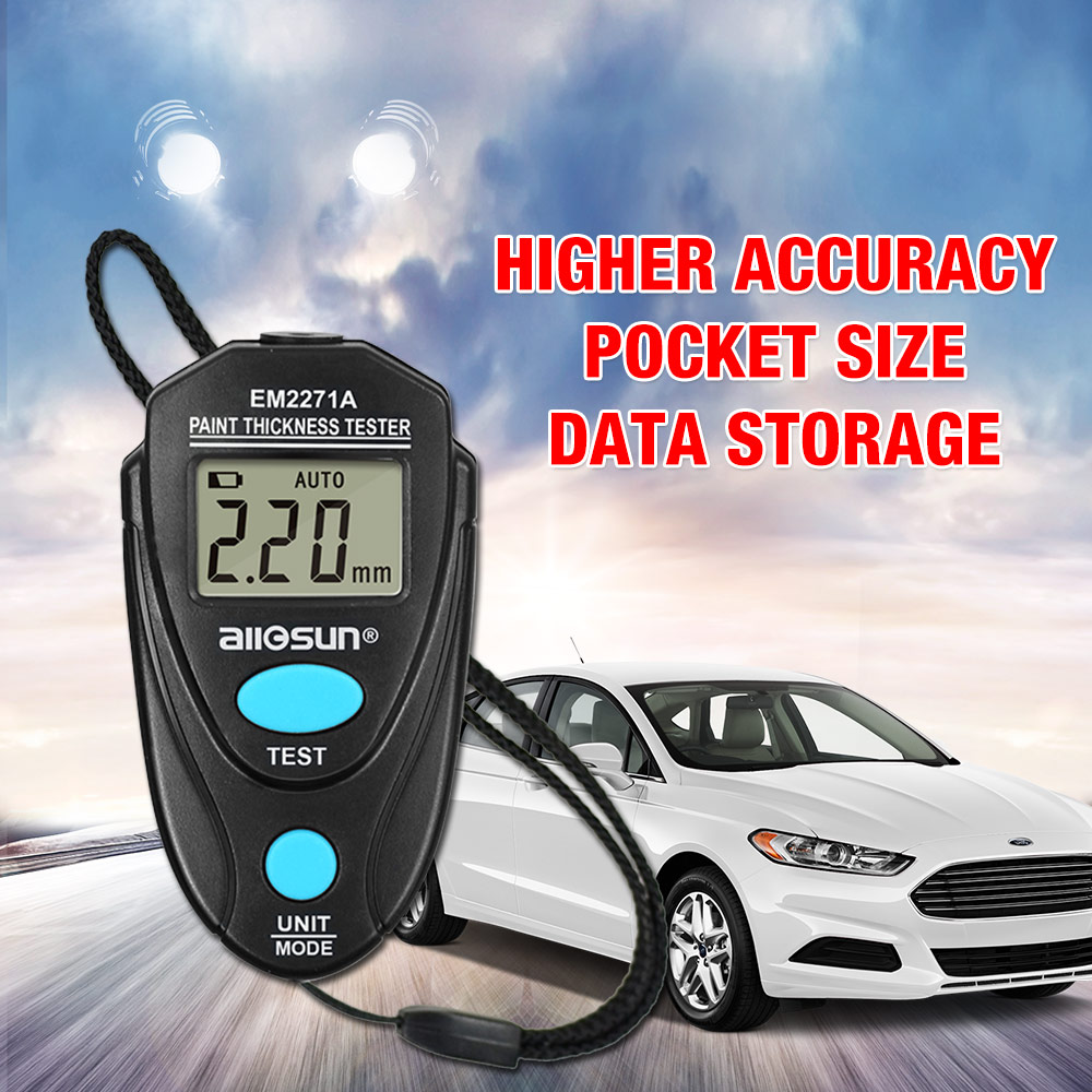 Digital Paint Coating Meter 0.01-2.20mm For Car Thickness Gauges Meter Russian Manual EM2271A All-sun