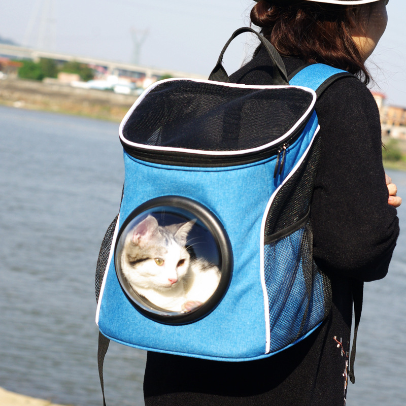 2017 New Pet Carrier Space Capsule Shaped Breathable Pet Backpack Canvas Pet Dog Outside Travel Portable Cat Bags Free Shipping #2