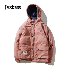 Jvzkass 2019 new Harajuku winter cotton padded Korean loose bf wind hooded cute coat female Z26