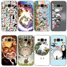 Studio Ghibli Spirited Away Totoro Hard Transparent Cover Case for Galaxy A3 A5 7 8 J5 J7 & Note 5 4 3 2 & Grand 2 Prime