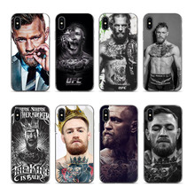 Aiboduo Conor Mcgregor The King Capa phones case cover For iPhone X 6s 6plus 6 7plus 7 8 8plus 5 5S SE SE XR XS max phone case худи print bar king conor
