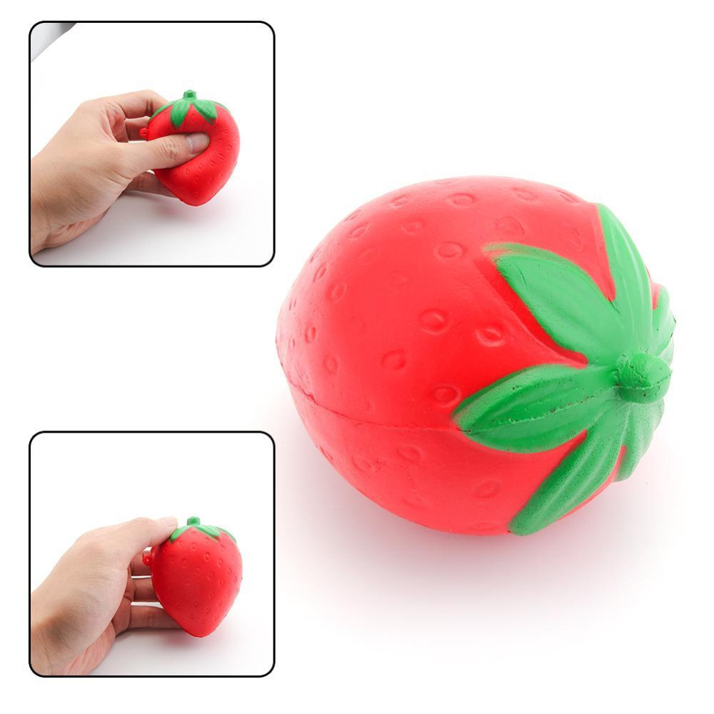 8CM PU Material Mini Soft Squishy Strawberry Candy Scented Slow Rising Fruit Strawberry Key Chain For Cell Phone Strap Kid Gifts