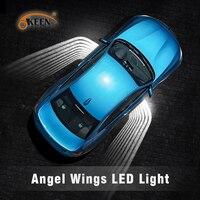 OKEEN 12V/24V Car Angel Wings welcome light LED Car Door Light courtesy Projector carpet blanket led light fit all cars