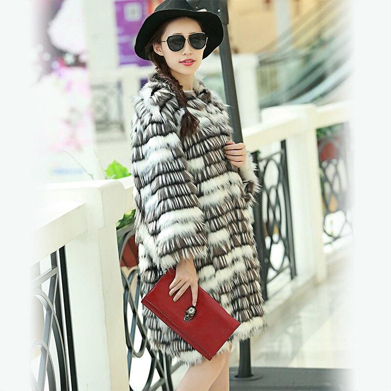 Nerazzurri Abrigo de piel sintética de invierno Mujer Suelta mullida - Ropa de mujer - foto 4