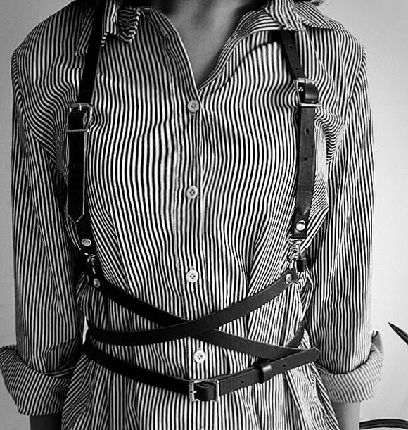 New Faux Leather Harness Punk Gothic Body Bondage Cage Shoulder Wrapped Waist Straps 2017 Basic Style Women Men Underbust Belt