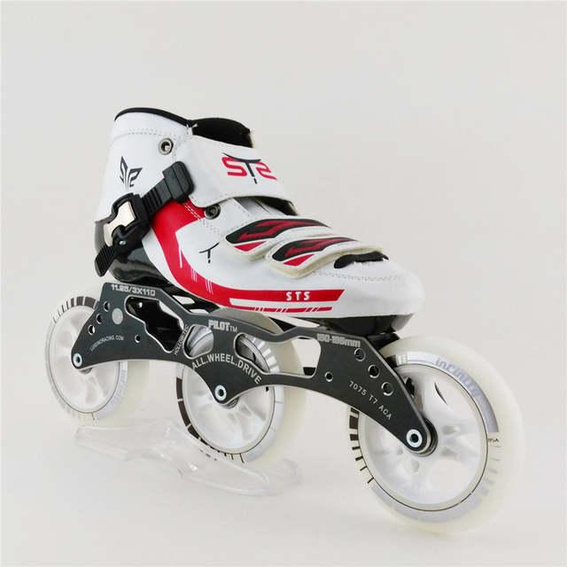 placeholder Fiberglass Mens Kecepatan profesional 3 Roda Sepatu Roda Inline  Skating Sepatu Anak Patins Slalom Inline Skates 76d94344a8