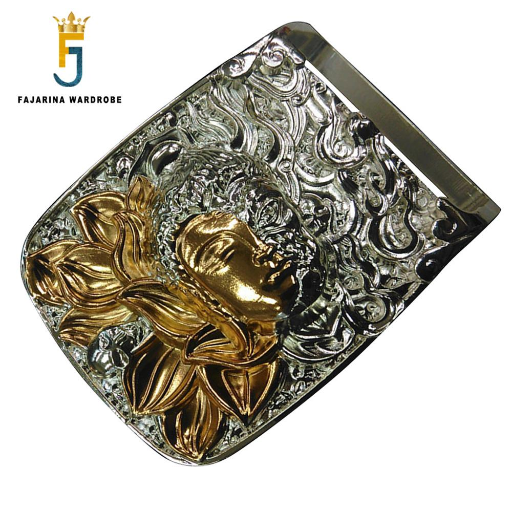 FAJARINA Many Models Choice Retro Styles Solid Brass Belt Buckle Fashion Plate with Silvery Slide Buckles For Smooth Belt BCK032