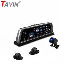 лучшая цена TAVIN 4 Lens Cameras 4G ADAS Car dvr Android 5.1 GPS Dash cam wifi 10 inch Touch Screen 360 degrees Night vision video recorder