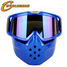 Vintage Helm Anti-Wind Maske Brille Motocross Goggles Fitting Retro Motorrad Open Face Helm Schild Gafas Cyclegear CG04(China)