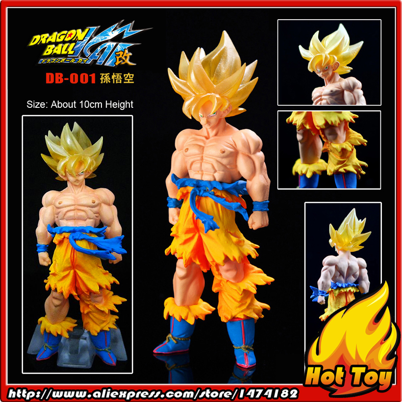 100% Original BANDAI Gashapon PVC Toy Figure DG Part 1 - Son Goku Super Saiyan from Japan Anime Dragon Ball Z (10cm tall) 100% original bandai gashapon figure hg part 20 goku super saiyan special ver from japan anime dragon ball z 9cm tall