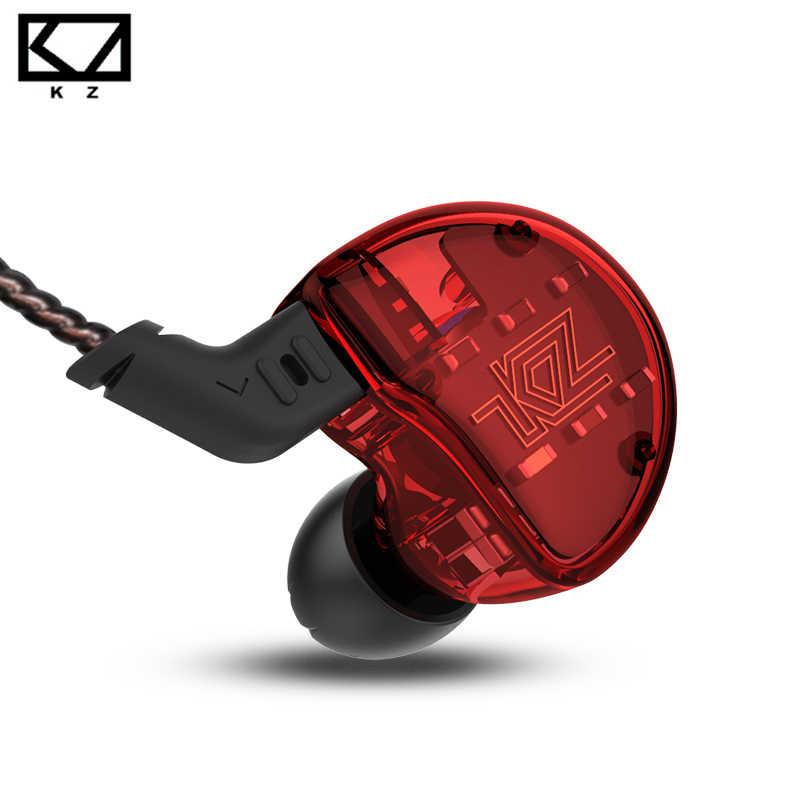 KZ ZS10 אוזניות 4BA + 1DD דינמי אבזור אוזניות HiFi בס אוזניות רעש ביטול בצגי אוזן היברידי אוזניות