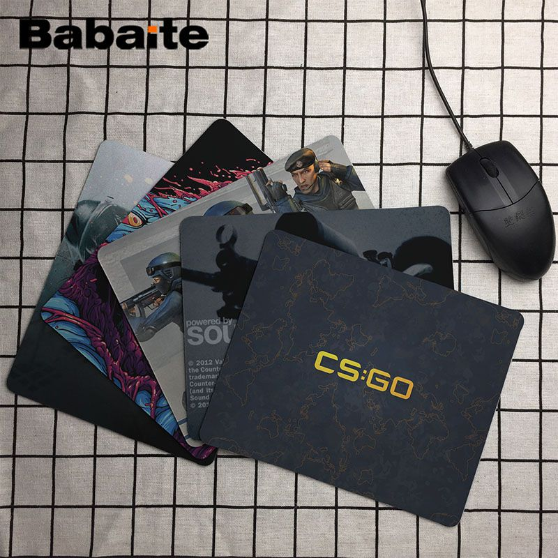 Babaite Beautiful Anime CS GO Customized laptop Gaming mouse pad Size for 180*220*2mm and 250*290*2mm Mousepad