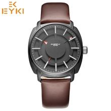 EYKI men luxury waterproof luminous simple watches man fashion quartz wristwatches leather strap clock Relogio Masculino Reloj shhors 2015 10m eyki reloj hombre 10000301